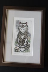 Signed cat print with documents in Fort Belvoir, Virginia