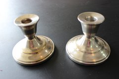 2 silver plated candlestick holders in Quantico, Virginia