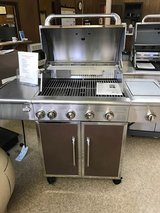 Stainless Steel Copper top 5 burners plus side burner grill in Camp Lejeune, North Carolina