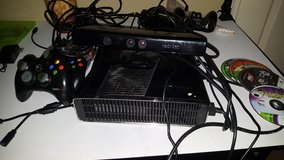 Xbox 360 with kinect sensor controller and 6-8 games in Moody AFB, Georgia