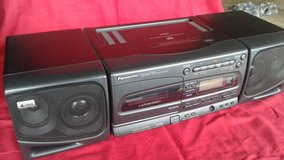 PRICE DROP!!!  Panasonic portable stereo component cd system RX-E300 ( vintage boombox Getto Bla... in Joliet, Illinois