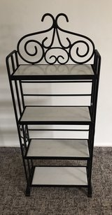 wrought iron DVD stand with white marble in Ramstein, Germany