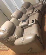 Tan Leather Reclining Sofa in Jacksonville, Florida