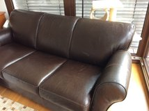 Brown 3 seater, leather in Wiesbaden, GE