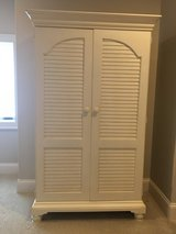 Solid Wood WHITE Armoire (or TV Cabinet) in Fort Campbell, Kentucky