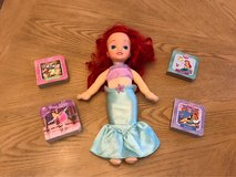 little mermaid stuffed doll and baby board books in Fort Bliss, Texas