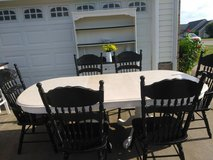 Farmhouse style table/6 chairs/hutch in Fort Campbell, Kentucky