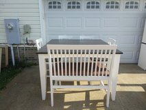 Farmhouse style bar high table/4 chairs/bench in Fort Campbell, Kentucky