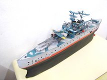 Vintage model ship Handmade own construction  Warship model in Wiesbaden, GE