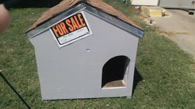 Hancrafted doghouse in Fort Riley, Kansas