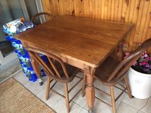 Antique Primitive Tavern Farmhouse Table & Four Chairs in Naperville, Illinois