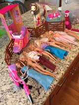 Barbies with horse, scooter, bike and more in Schaumburg, Illinois