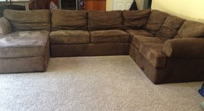 Brown microfiber Sectional couch in Vacaville, California