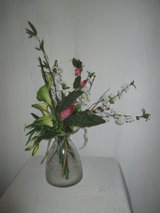 big glass vase with flowers in Ramstein, Germany