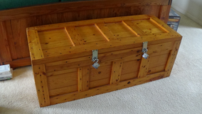 Heavy Duty Ammunition Crate With Locks, Solid Pine, Handmade in Byron, Georgia