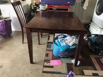 Cherry Wood Dinning Room Table with Chair in Clarksville, Tennessee