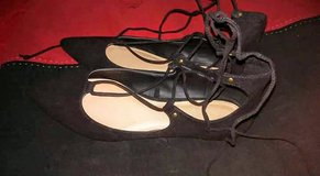 Women's Black Lace-Up Flats in Fort Bliss, Texas