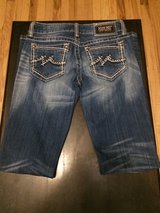 Women's Miss Me M Bling Pockets Boot Jeans sz 27 x 34 JD1037B in Fort Campbell, Kentucky