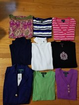 lot of 16pc.ralph lauren woman jacket,pant/capri,shirt ,cardigan(chaps)-size small in Wilmington, North Carolina