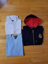 POLO RALPH LAUREN  hoodie and 2shirts-size l in Wilmington, North Carolina