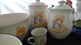 Tienshan Stoneware Theodore/Country Bear 2pc Canister and 2 pc bowl Set 1 mug in Fort Campbell, Kentucky