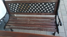 Cast iron bench in Ramstein, Germany
