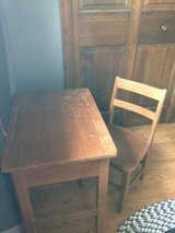 Mid-Century school desk and chair in Glendale Heights, Illinois