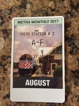 Metra A-F August Monthly Train Ticket in St. Charles, Illinois