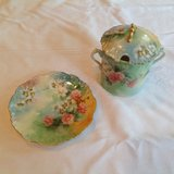 Vintage covered jelly jar and plate in Naperville, Illinois