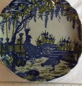 Blue Rooster ceramic plate in Naperville, Illinois