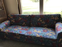 IKEA floral pattern big sofa and chair in Great Lakes, Illinois