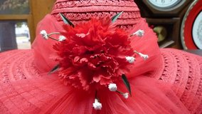 RED CHRISTMAS & EASTER SUNDAY GO TO MEETIN' STRAW HAT & SUN-BONNET in Fort Leonard Wood, Missouri