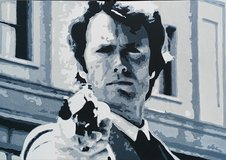 """Oil Painting Clint Eastwood """"Dirty Harry"""" in Vicenza, Italy"""