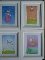 Felicity Wishes, set of 4 framed, matted, prints by Emma Thomson in Houston, Texas