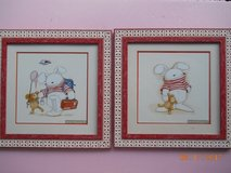 HOPPY STREET, Set of TWO framed and matted prints by Deborah Jones in Houston, Texas