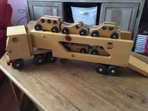 Solid Wood Tractor Trailer w/5 Cars in Clarksville, Tennessee