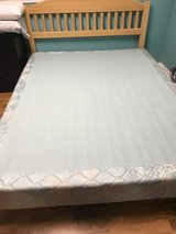 BED QUEEN HEADBOARD AND FOOTBOARD W/BOXSPRING!   HANDCRAFTED in Palatine, Illinois