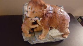 vintage  Enesco grizzly bear & cub planter in Joliet, Illinois