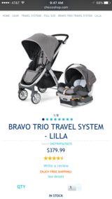 Bravo Trio Stroller (chicco) in Beaufort, South Carolina