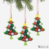 10 Pom-Pom Tree Ornament Craft Kits - NIP in Bartlett, Illinois