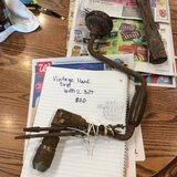Antique hand drill with three bits in Lawton, Oklahoma