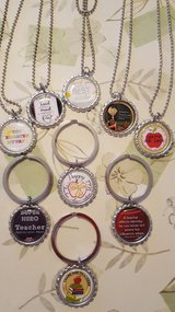 Teacher Appreciation Necklace or Key Ring in Bartlett, Illinois