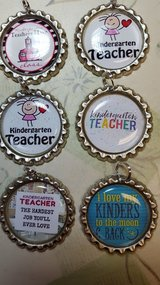 Kindergarten Teacher Necklace or Key Ring in Bartlett, Illinois