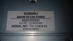 CD CAR Stereo  FM/AM for Subaru in Okinawa, Japan