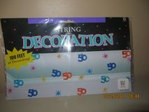 String Decoration with #50 in Foil & Muti-colors - 100 Feet of Decorating - Party Supplies-NIP in Naperville, Illinois