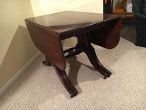"""Vintage Mahogany Table with 4-14"""" Leaves in Oswego, Illinois"""