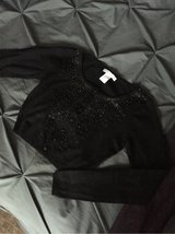 Charlotte Russe Black Sequined Cropped Sweater Small in Olympia, Washington