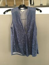 Size small blue lace maternity tank in Naperville, Illinois