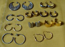 Hoop Earrings 10 pair in Fort Campbell, Kentucky