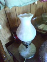 Milk glass lamp old in Fort Hood, Texas